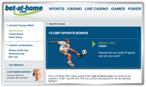 Bet at Home free bets tips betting