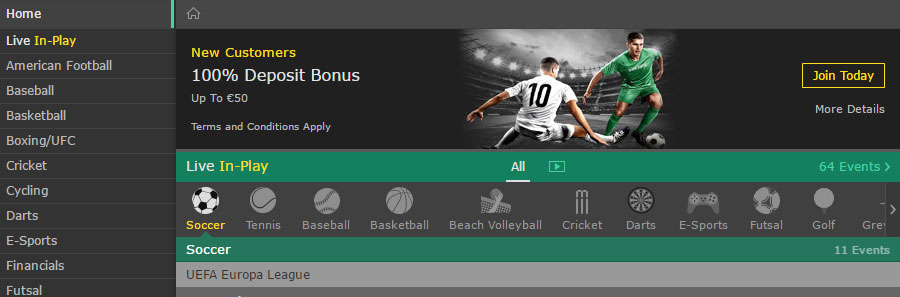 free bets bet365